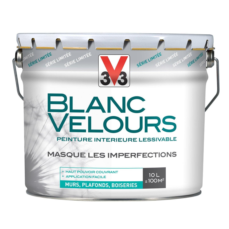 Peinture Intérieure Blanc Velours Mat 10l Mur Plafond Et Boiserie