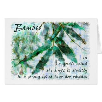 Bamboo In A Gentle Rain...hear her rhythm Cards
