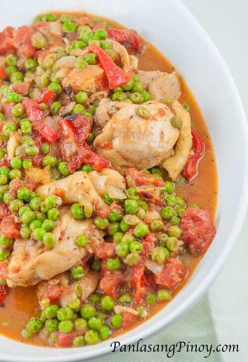Chicken Guisantes Recipe - Panlasang Pinoy