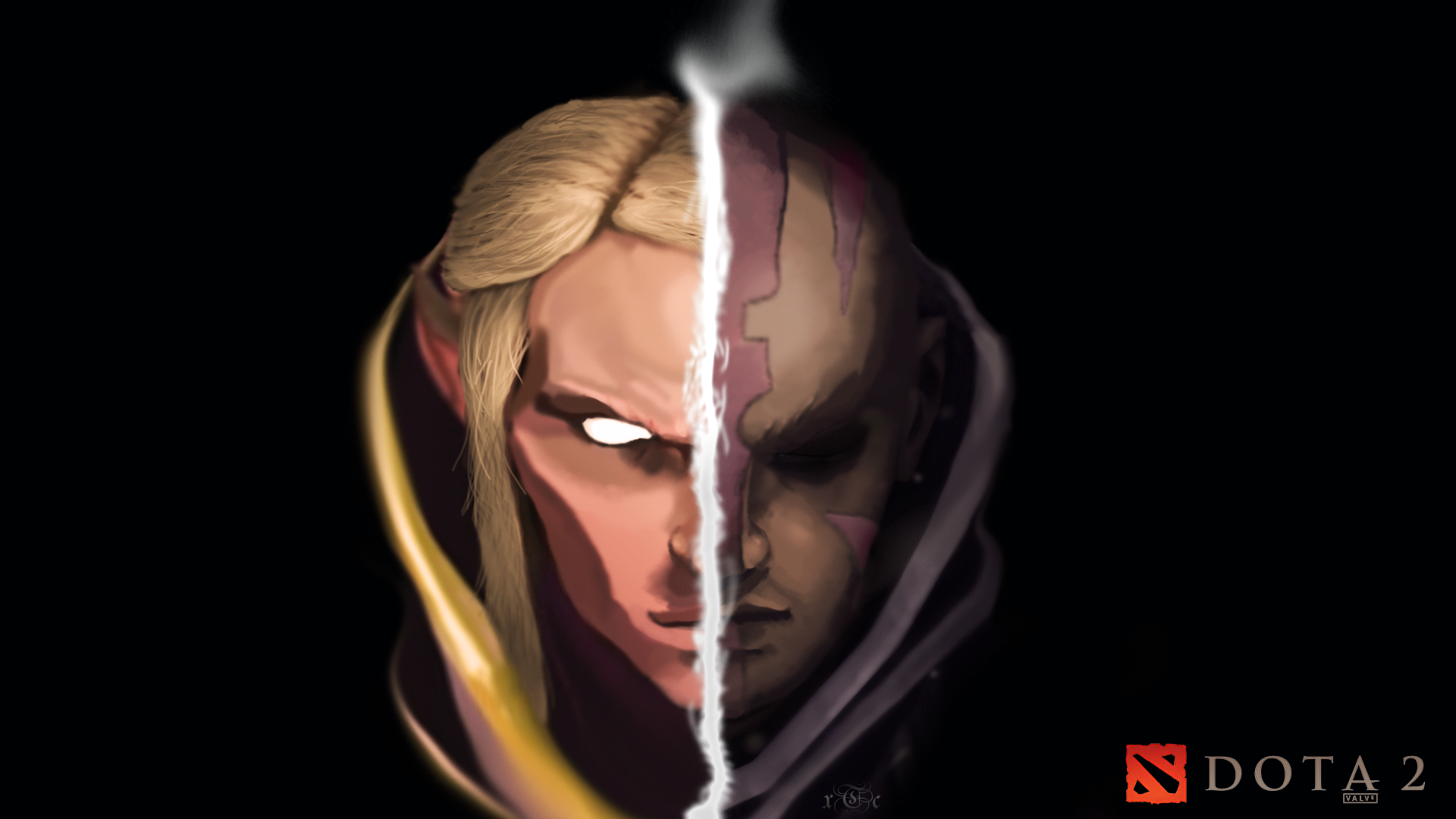 I Painted An Invoker Antimage Wallpaper Using Only A Mouse Dota2