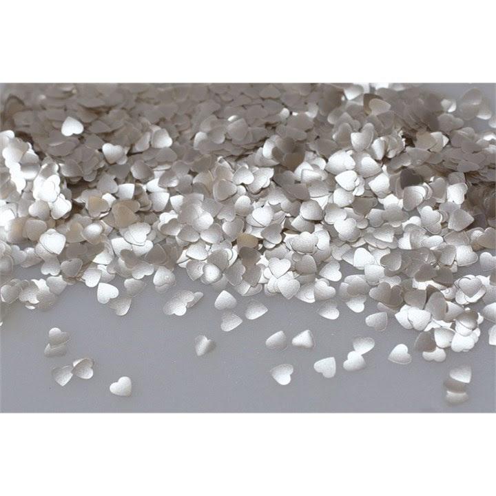 Culpitt - Rainbow Dust Edible Glitter Silver Hearts