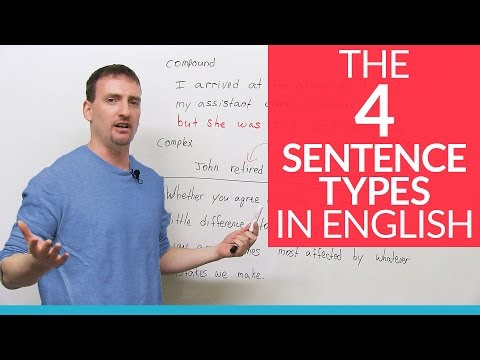 The Types of English Sentences