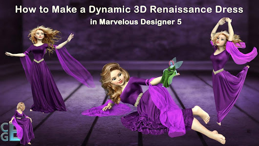 Free Marvelous Designer Renaissance Dress Video Tutorial Workshop - CG Elves