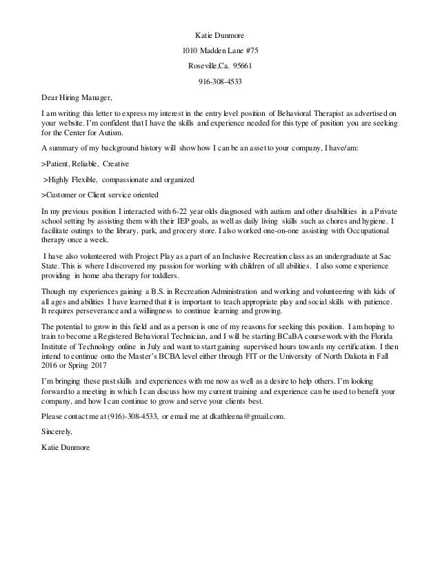 Cover Letter For Mental Health Worker - Sample Cover Letter