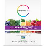 Rainbow Light Prenatal Daily Duo Multivitamin Dietary Supplement Tablets and Softgels - 60ct