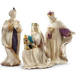 First blessing nativity three kings figurine set by lenox