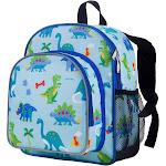 "Wildkin Pack 'n Snack Backpack, Olive Kids Dinosaur Land, 12"""
