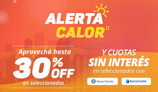 ALERTA CALOR! HASTA 30% OFF EN AIRES Y VENTILACIÓN Y CUOTAS SIN INTERÉS CON BANCO NACIÓN Y BANCO CIUDAD.