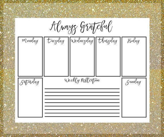 Daily Planner Printable - Daily Gratitude Journal - Mindfulness ...