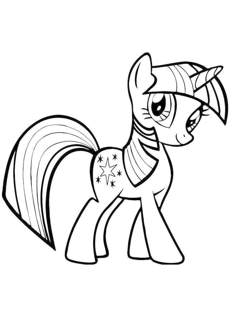 Gambar Kuda Poni Hitam Putih : gambar, hitam, putih, Contoh, Gambar, Untuk, Mewarnai, KataUcap