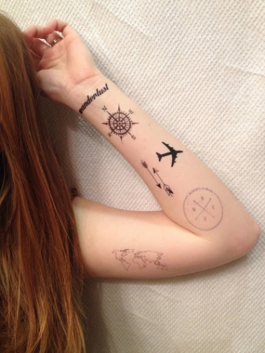 50 Adventurous Travel Tattoos Ideas | Amazing Tattoo Ideas