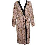 Sanctuary Pink Multi Printed Long-Sleeve Calico Kimono