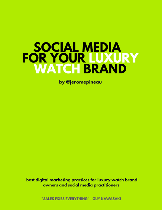 social media for luxury watch brands