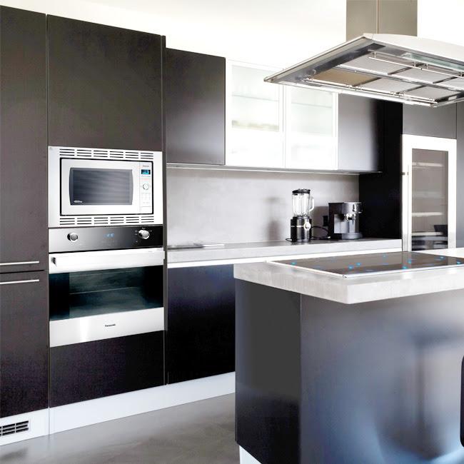 Slab Kitchen Cabinet Door in Solid Dark Silver - AKC