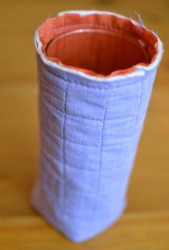 padded bag - basted together