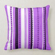 Purple black funky stripes throwpillow