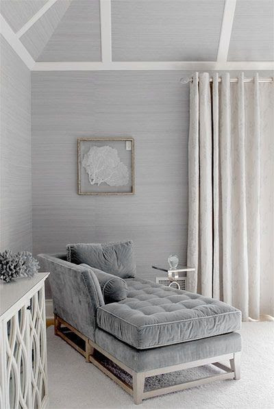 ♅ Dove Gray Home Decor ♅  incredible tufted settee with bolster