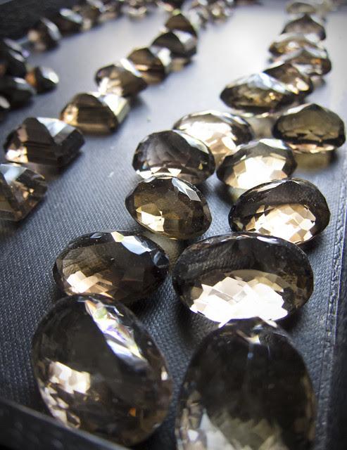 Smoky quartz stones