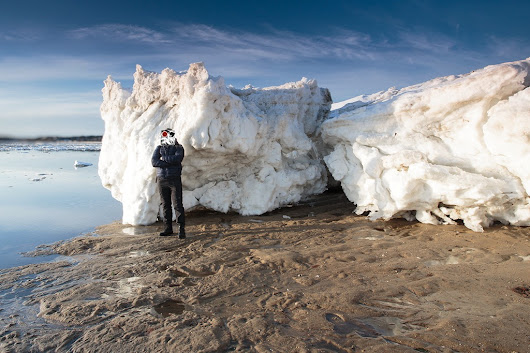 Extremely Large Cape Cod Iceberg on Cape Cod National Seashore Beach!!! | The Official Dapixara Blog - Cape Cod Photos
