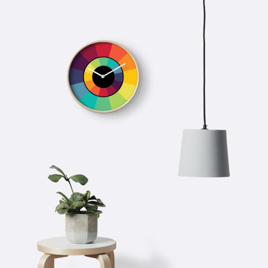 'Complementary Colour Wheel' Clock by iopan