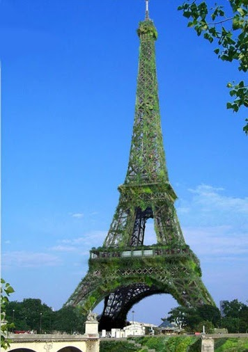 Torre Eiffel transformada em uma árvore gigante?