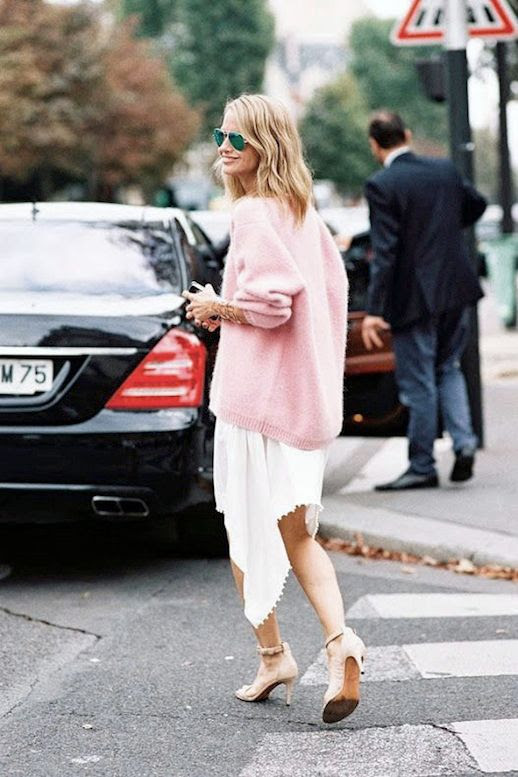 Le Fashion Blog Street Style Holli Rogers Pink Sweater Asymmetrical Skirt Via Vanessa Jackman photo Le-Fashion-Blog-Street-Style-Holli-Rogers-Pink-Sweater-Asymmetrical-Skirt-Via-Vanessa-Jackman.jpg