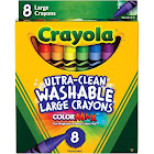 Crayola Large - Crayon - non-permanent - assorted colors - pack of 8