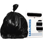 Accufit Low-Density Can Liners, 44 gal, 0.9 mil, 37 x 50, Black, 100/Carton