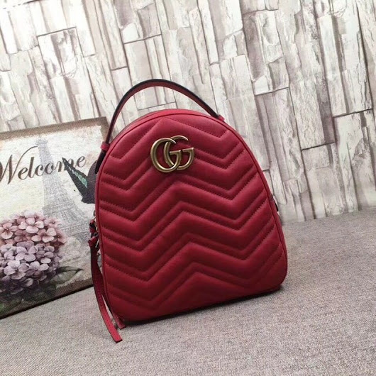 RÉPLICA MOCHILA GG MARMONT QUILTED RED ITALIANA