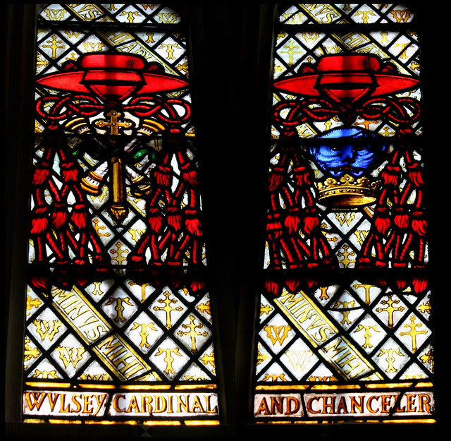 Cardinal Wolsey, stained glass