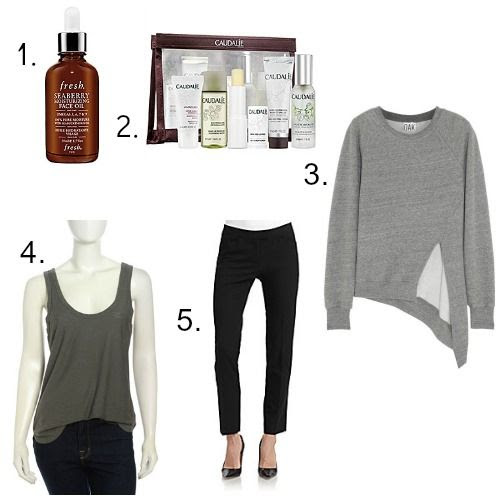 Fresh Face Oil - Caudalie Favorites Kit - OAK Sweatshirt - James Perse Tank Top - Lafayette 148 New York Trousers