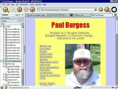 my personal website ca. 2002