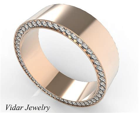 Rose Gold Morganite Mens Wedding Band   Vidar Jewelry