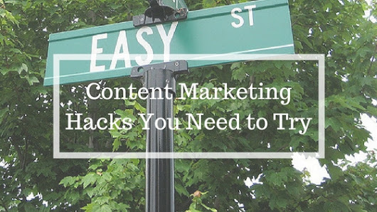 Easy Content Marketing Tactics You're Probably Not Using - SEAN KIRBY