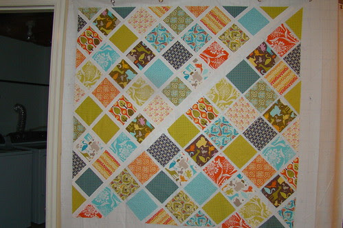 Central Park baby quilt WIP