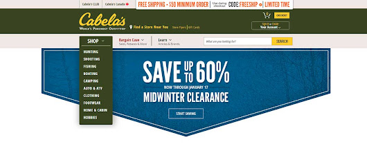 Free web scraper for Cabela's to extract data about products - Diggernaut