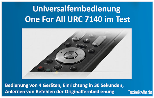 One For All URC 7140 im Test - Technikaffe.de