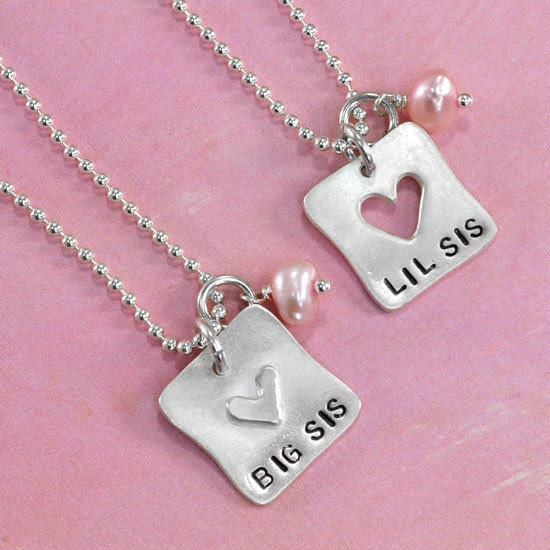 Image result for matching necklaces sisters