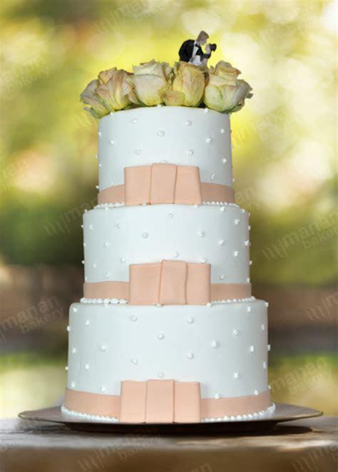 Wedding Cake Peach and White