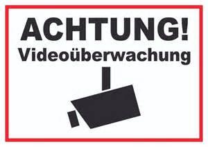 achtung videoueberwachung schild videoueberwacht aaa