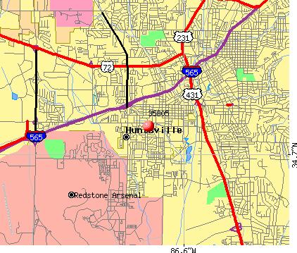 Huntsville Zip Code Map Huntsville Alabama Zip Code Map | Map North East