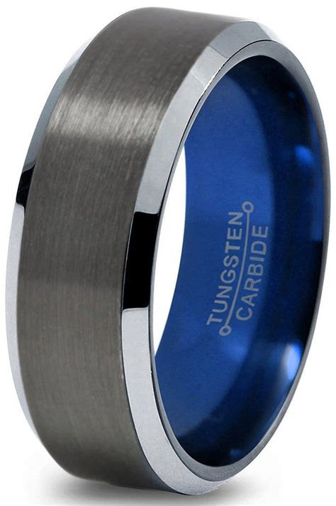 tungsten wedding bands ideas  pinterest