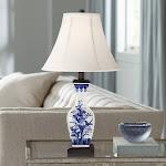 Benoit Blue and White Ceramic Table Lamp - Style # 9J439