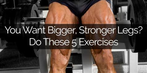 bigger stronger legs    exercises