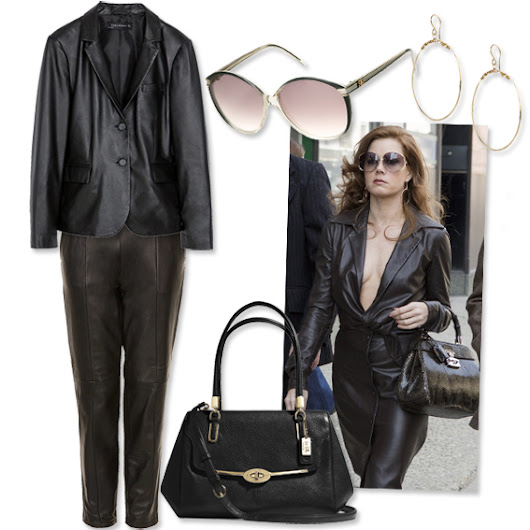 Get the Look: American Hustle-Inspired Fashion - Amy Adams: Leather On Leather