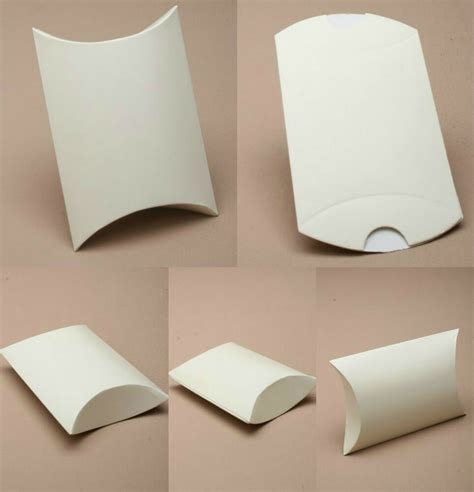 Pack of 12 Cream Ivory Gift Pillow Box Boxes Wedding