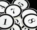 Jumbo Black Number Tags
