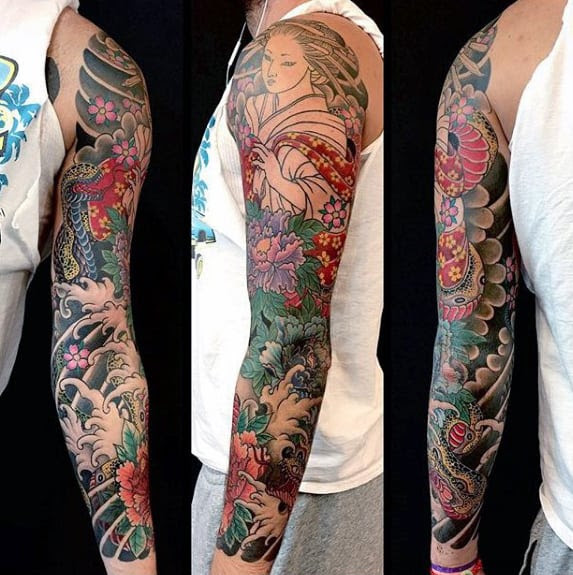 50 Japanese Flower Tattoo Designs For Men Floral Ink Ideas