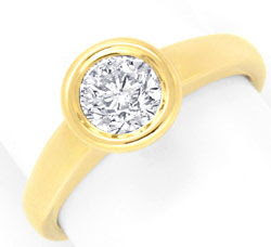 Originalfoto BRILLANT-DIAMANT-EINKARÄTER-RING GELBGOLD RIVER