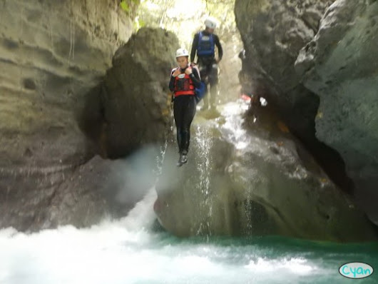 Canyoning in Moalboal, Cebu with Cyan Adventures